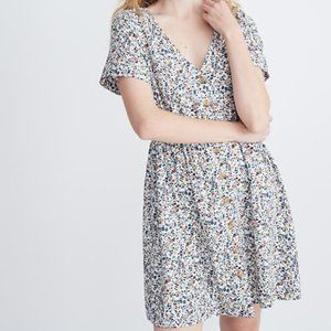 Madewell Button-Front Day Dress in Blossoming Vine